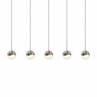 Sonneman 2921.13.SML Grapes Modern Satin Nickel LED Small Multi Drop Lighting Fixture