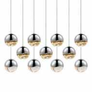 Sonneman 2922.01.LRG Grapes Contemporary Polished Chrome LED Large Multi Pendant Lighting