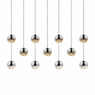 Sonneman 2922.01.SML Grapes Contemporary Polished Chrome LED Small Multi Lighting Pendant