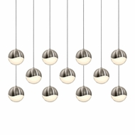 Sonneman 2922.13.MED Grapes Contemporary Satin Nickel LED Medium Multi Hanging Lamp