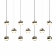 Sonneman 2922.13.SML Grapes Modern Satin Nickel LED Small Multi Hanging Light
