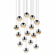 Sonneman 2923.01.LRG Grapes Modern Polished Chrome LED Large Multi Pendant Lighting Fixture