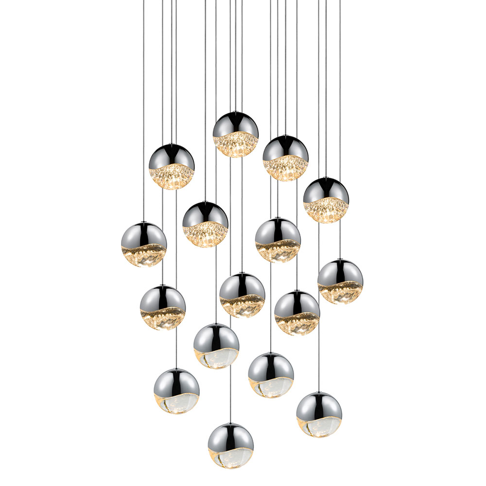 Sonneman grapes modern polished chrome led Modern pendant lighting