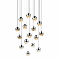 Sonneman 2923.01.MED Grapes Contemporary Polished Chrome LED Medium Multi Hanging Pendant Lighting