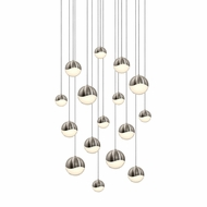 Sonneman 2923.13.AST Grapes Contemporary Satin Nickel LED Assorted Multi Pendant Hanging Light