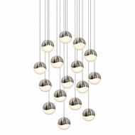 Sonneman 2923.13.LRG Grapes Modern Satin Nickel LED Large Multi Hanging Light Fixture