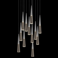 Sonneman 2945.01 Spire Polished Chrome LED Multi Hanging Lamp