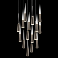Sonneman 2949.01 Spire Polished Chrome LED Multi Hanging Pendant Lighting