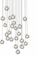 Sonneman 2966.01 Champagne Bubbles Contemporary Polished Chrome LED Multi Drop Ceiling Lighting