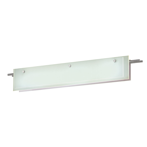 Sonneman Suspended Glass Slim Contemporary Satin Nickel Finish 36 Wide Led Bathroom