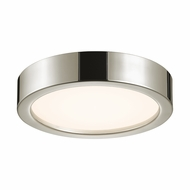 Sonneman 3724.35 Puck Slim Contemporary Polished Nickel Finish 12  Wide LED Overhead Light Fixture