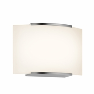 Sonneman 3871.13LED Wave Modern Satin Nickel Finish 5.25  Tall LED Wall Lighting