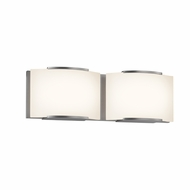 Sonneman 3872.13LED Wave Modern Satin Nickel Finish 5.25  Tall LED 2 Light Bathroom Light Sconce