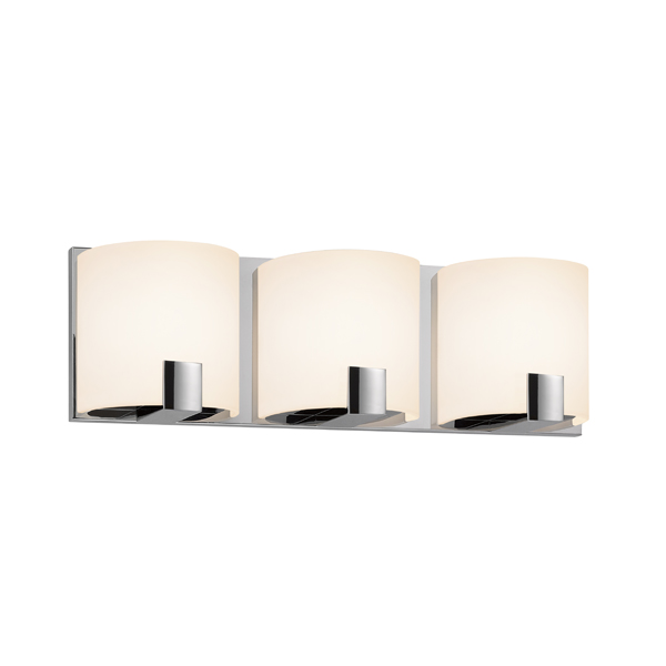 Bathroom Vanity Lights Chrome Finish : Sonneman 3893.01LED C.Shell Contemporary Polished Chrome Finish 16