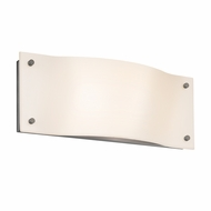 Sonneman 3911.13LED Oceana Modern Satin Nickel Finish 5.5  Tall LED Wall Light Fixture