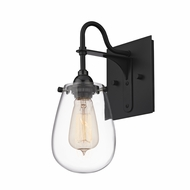 Sonneman 4286.25 Chelsea Vintage Satin Black Finish 5.25  Wide Lighting Wall Sconce