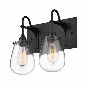 "Bathroom Light Fixtures Black Finish sonneman 4287.25 chelsea retro satin black finish 12.5"" tall 2"