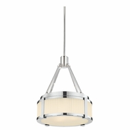 Sonneman 4358.35 Roxy Contemporary Polished Nickel Finish 8  Wide Drum Ceiling Light Pendant