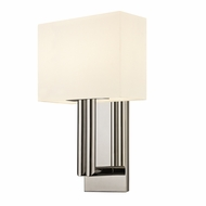 Sonneman 4610.35 Madison Modern Polished Nickel Finish 15  Tall Wall Lighting Sconce
