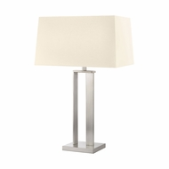 Sonneman 4690.13 D Contemporary Satin Nickel Side Table Lamp