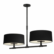 Sonneman 4952.25 Soho Modern Satin Black Finish 14.5  Tall Island Lighting