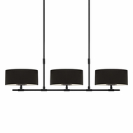 Sonneman 4953.25 Soho Contemporary Satin Black Finish 53.75  Wide Kitchen Island Lighting
