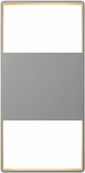 Sonneman 7202.74.WL Light Frames Contemporary Textured Gray LED Indoor/Outdoor Wall Sconce Light