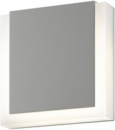 Sonneman 7214.74.WL SQR Modern Textured Gray LED Interior/Exterior Wall Light Fixture