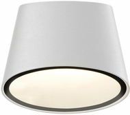 Sonneman 7220.98.WL Elips Modern Textured White LED Interior/Exterior Wall Lamp