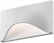 Sonneman 7236.98.WL Tides Modern Textured White LED Interior/Exterior Wall Light Fixture