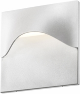 Sonneman 7237.98.WL Tides Contemporary Textured White LED Indoor/Outdoor Wall Sconce Lighting