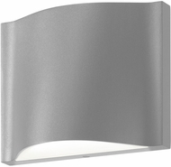 Sonneman 7239.74.WL Drift Modern Textured Gray LED Interior/Exterior Wall Sconce Light