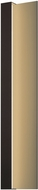 Sonneman 7252.72.WL Radiance Modern Textured Bronze LED Interior/Exterior Wall Light Sconce