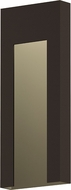 Sonneman 7267.72.WL Inset Contemporary Textured Bronze LED Outdoor Wall Light Sconce