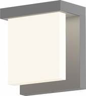 Sonneman 7275.74.WL Glass Glow� Contemporary Textured Gray LED Outdoor Wall Lighting Sconce