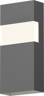 Sonneman 7282.74.WL Band Contemporary Textured Gray LED Outdoor Wall Sconce Light
