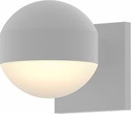 Sonneman 7300.DC.DL.98.WL REALS Modern Textured White LED Exterior Wall Mounted Lamp