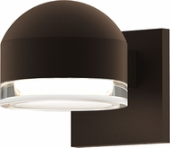 Sonneman 7300.DC.FH.72.WL REALS Contemporary Textured Bronze LED Outdoor Wall Light Sconce
