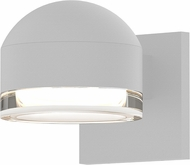 Sonneman 7300.DC.FH.98.WL REALS Contemporary Textured White LED Outdoor Wall Light Sconce