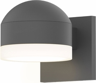 Sonneman 7300.DC.FW.74.WL REALS Contemporary Textured Gray LED Outdoor Wall Sconce