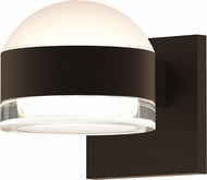 Sonneman 7302.DL.FH.72.WL REALS Contemporary Textured Bronze LED Outdoor Sconce Lighting