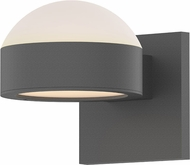 Sonneman 7302.DL.PL.74.WL REALS Modern Textured Gray LED Exterior Wall Lighting Sconce