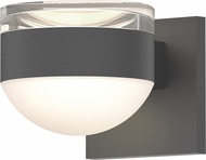Sonneman 7302.FH.DL.74.WL REALS Contemporary Textured Gray LED Outdoor Wall Light Sconce