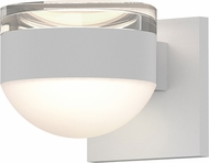 Sonneman 7302.FH.DL.98.WL REALS Modern Textured White LED Exterior Wall Lighting Fixture