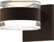 Sonneman 7302.FH.FH.72.WL REALS Contemporary Textured Bronze LED Outdoor Wall Light Sconce