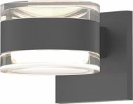 Sonneman 7302.FH.FH.74.WL REALS Modern Textured Gray LED Exterior Wall Sconce Light