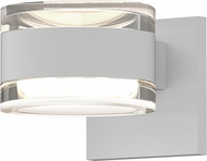 Sonneman 7302.FH.FH.98.WL REALS Contemporary Textured White LED Outdoor Wall Sconce