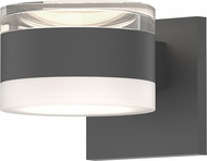 Sonneman 7302.FH.FW.74.WL REALS Contemporary Textured Gray LED Outdoor Wall Lighting