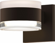 Sonneman 7302.FW.FH.72.WL REALS Contemporary Textured Bronze LED Outdoor Wall Lighting Sconce