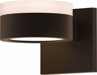 Sonneman 7302.FW.PL.72.WL REALS Contemporary Textured Bronze LED Outdoor Wall Sconce Light
